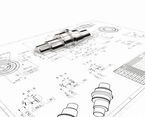 Konstruktionszeichnung Zeichnungserstellung