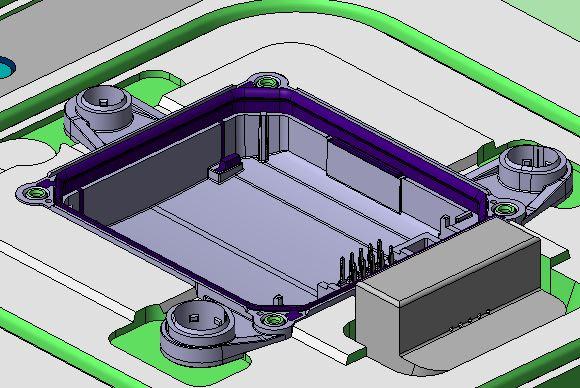 Silikonumspritzung Kunststoffspritzwerkzeug